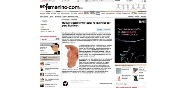Enfemenino.comylacirugíafacialmasculina Dr.PerezdelaRomana