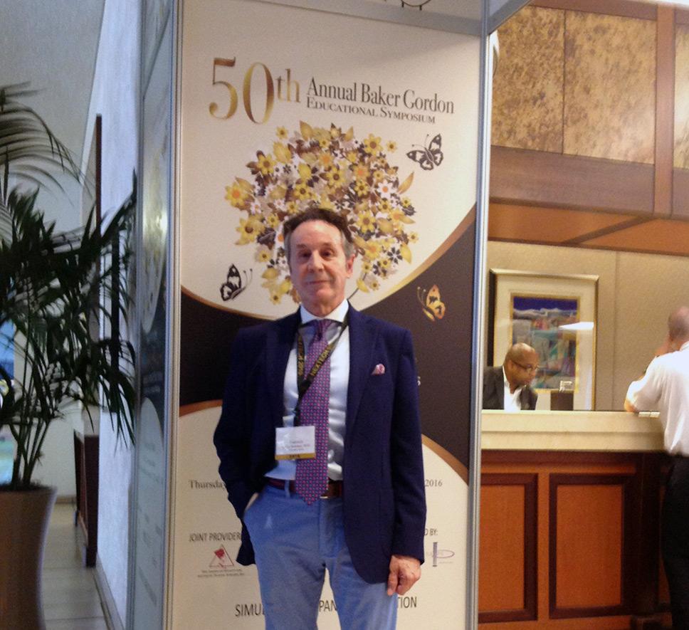 El Dr. Pérez de la Romana en el 50 Symposium Baker Gordon de Miami promana