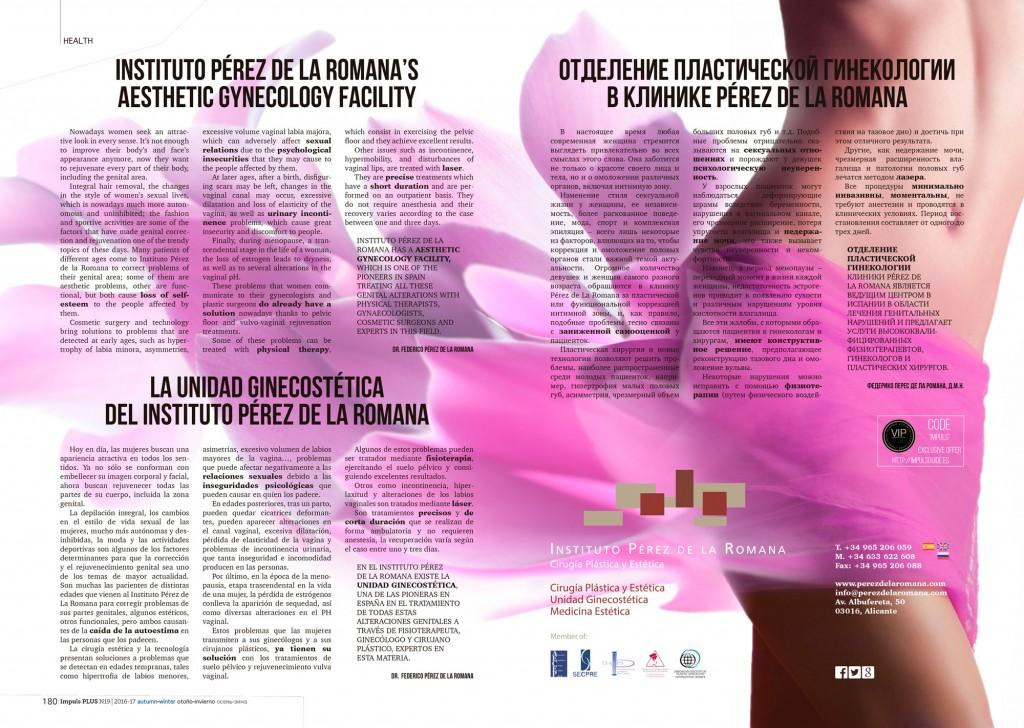 La Unidad Ginecostética del Instituto Pérez de La Romana en la revista Impuls 5c7d17330d6ba_Impuls-Perez-de-la-Romana-180-181-1024x728