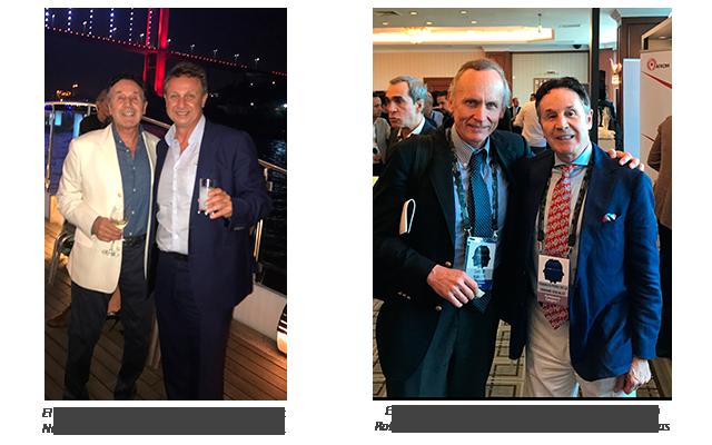 Dr Enrico Robotti y Dr Nacim Çerkes con el Dr Perez de la Romana